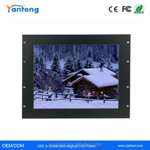 Rack mount 15inch 17inch 19inch industrial touchscreen monitor with Wide operational temperature