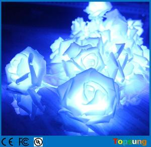 party decorarion decorative branch soft rose lights blue battery operated led string light