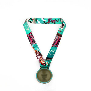 Competition Medal Lanyards with logo custom 100% Polyester strap Promotional items
