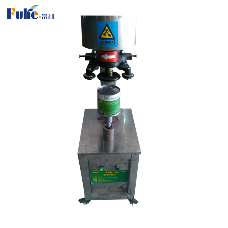 Factory price high efficient desktop semi-automatic manual food beverage can seaming machine