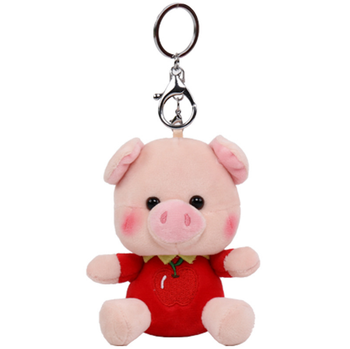 New Year of the Pig Mascot Doll Creative Cute Fruit Piggy Metal Keychain