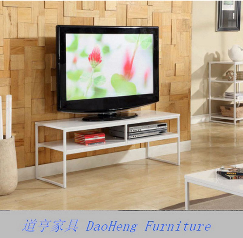 Corner Design Partition LCD TV Stand With Shelf Universal MDF Metal LCD TV Unit Modern Simple Design TV Stand
