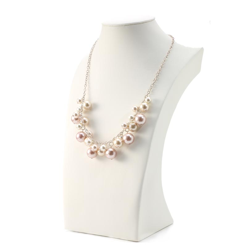 Pink pearl pendant necklace and earring set china suppliers