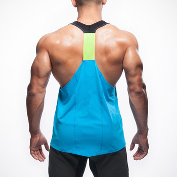 df7bbd33075b55 Mens Y Back Fitness Spandex Stringer Bodybuilding Wholesale Tank Top ...