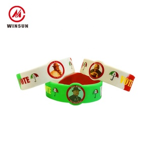 Cheap Custom Special Shape Printed Colorful Small Silicone Rubber Wrist Bands