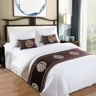 American hotel bedding set,white hotel bed sheets 60 cotton 40 polyester 3 pieces bedsheets in China