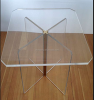 Acrylic Dining Table In The Style Of Charles Hollis for store