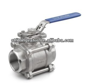 3PC Ball Valve SS316 BSP with ISO5211 PAD