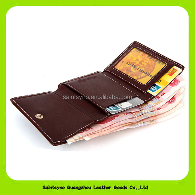 16845 Cheap Price Human Business Young Man Genuine Leather Purse <strong>Wallet</strong>