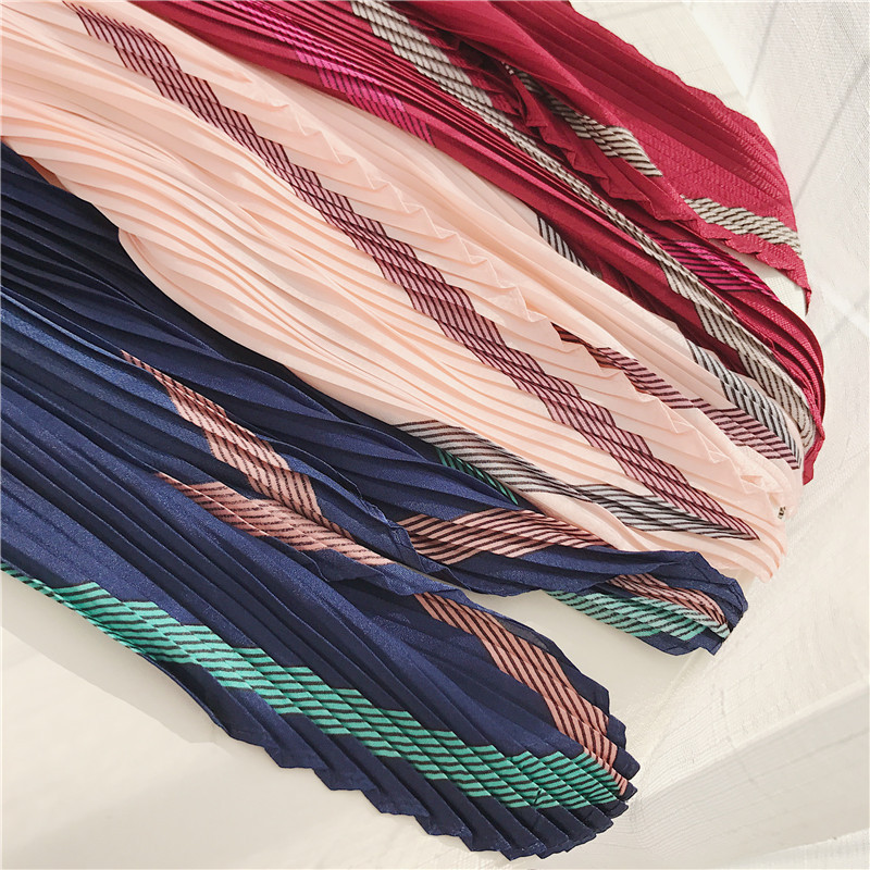 Top selling crinkle scarf newest small chiffon square scarf