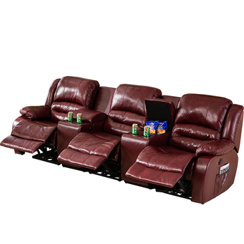 Set Reclining Sectional Home Theater 3 Seat Cover Seater ...