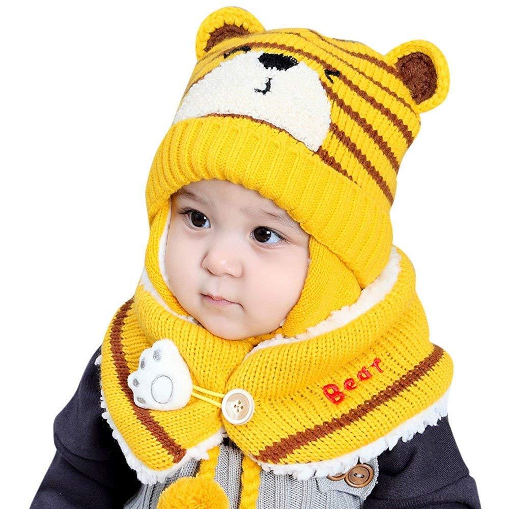 af7f5afe4fc Get Quotations · Jshuang Handmade Animal Shape Elephant Hat Braided Baby Knit  Hat