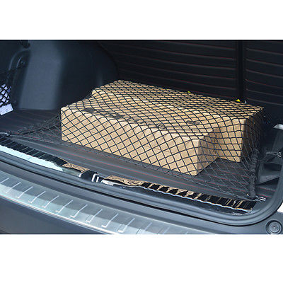 Новый автомобиль магистральные эластичный нейлоновая сетка заднего багажного держатель брюки-карго чистая организатор 4 крючки