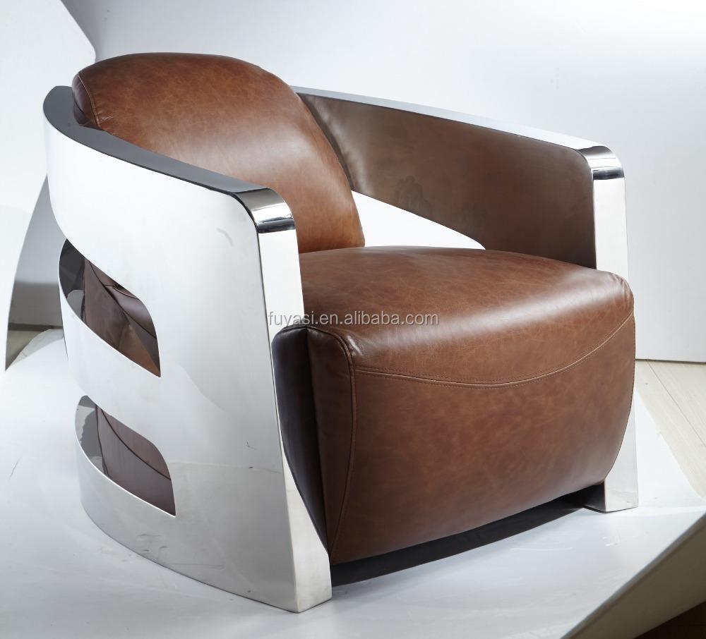 Viktorianischen Stil Sofa Sessel Aus Edelstahl Leder Engel Stuhl ...