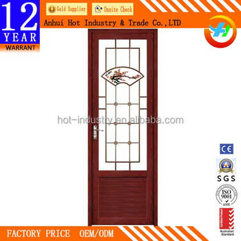 Aluminum Closet Door With Glass Solid Wooden Pattern High Quality