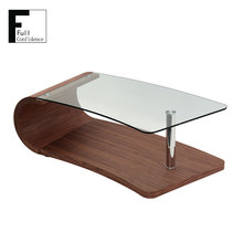 The Top 10mm Tempered Glass MDF Veneer Coffee Table