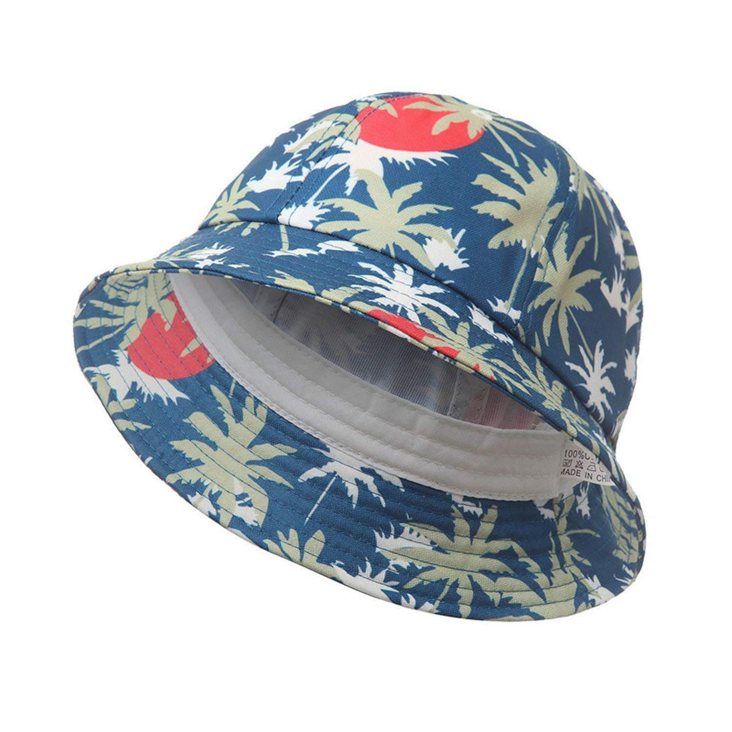 add096bda9174 Get Quotations · Novel Tree Print Cotton Bucket Hat Outdoor Sun Beach Cap  Fisherman Panama Sports Hats for Women