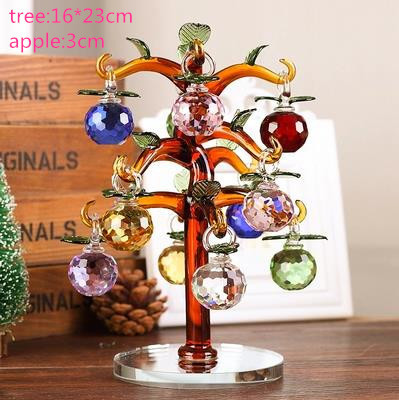 high quality China manufature handmade K9 crystal apple tree for gift& decoration