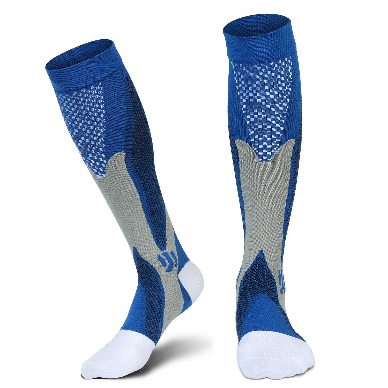 2d70b353ef Get Quotations · Graduated Compression Socks(20-30 mmHg) L/XL for Men Women  for