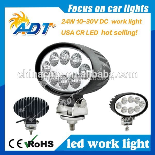 Auto dragon technologies High Quality 10-30v IP67 Waterproof truck 24w led off road light