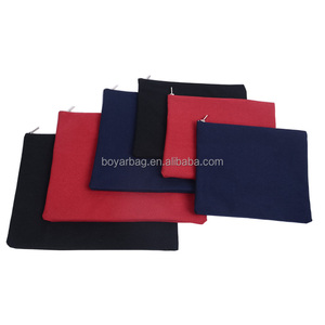 Cheap Wholesale Solid Black Canvas Cosmetic Pouch