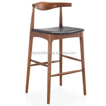 Replica Hans Wegner Elbow Bar Stool High Chair Upholstered