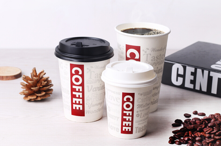 Disposable hot drink custom paper cup with logo