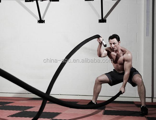 50 mm UFC Schwarz Polyester MMA Battle Rope Power Training Seile für Fitness Crossfit Training