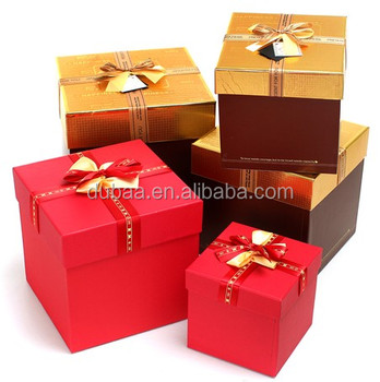 Square gift boxes with lid small gift boxes wholesale for Small cardboard jewelry boxes with lids