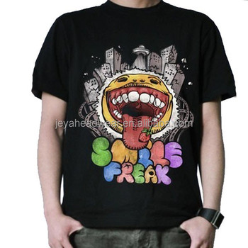 Black Men T Shirts For Sublimation Printing Customizable Design Cheap Tshirts