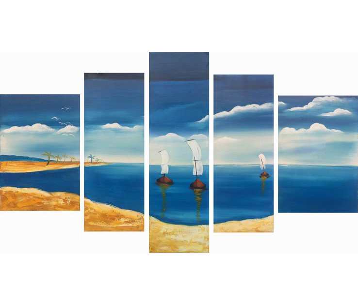 Modern Famous Chinese Oil Painting 3D Wallpaper For Home Decoration