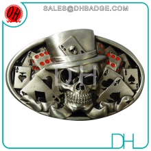 Factory Custom Antique Silver 2D/3D Luxury Skull Belt Buckle