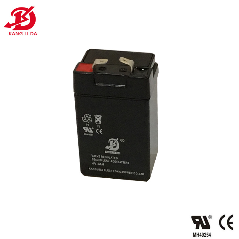 Kanglida 4v 2ah rechargeable sealed lead acid <strong>battery</strong> supplier in China