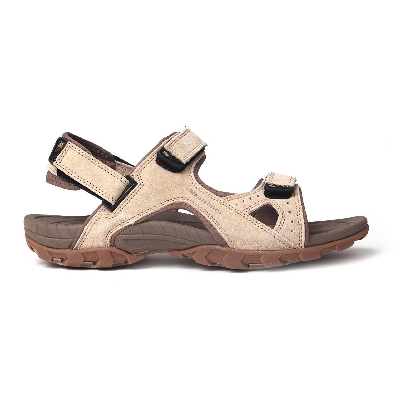 878038c61f0 Get Quotations · Karrimor Mens Antibes Genuine Leather Walking Sandals  Sport Hiking Trekking Summer Shoes