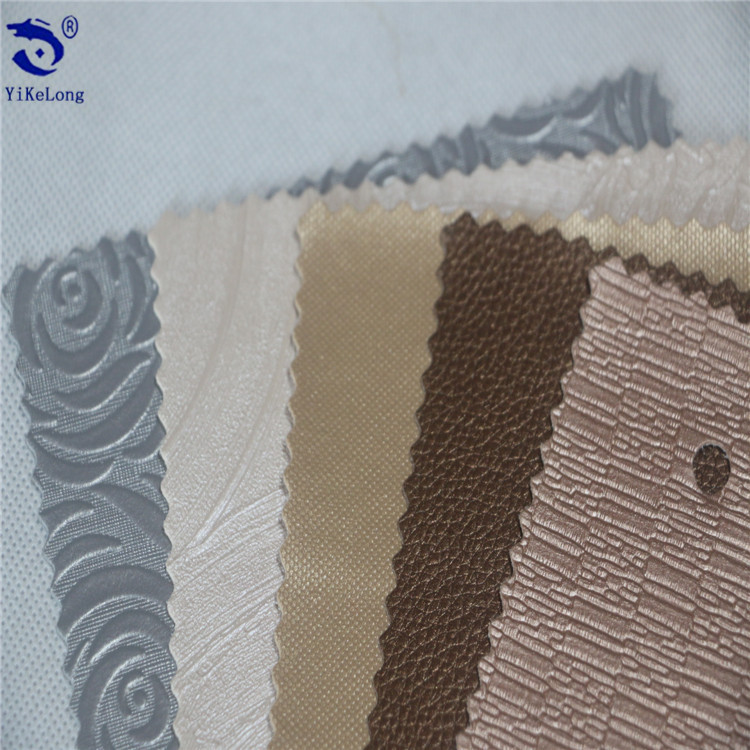 Factory direct wear-resistant waterproof PVC upholstery synthetic leather fabric for handbags