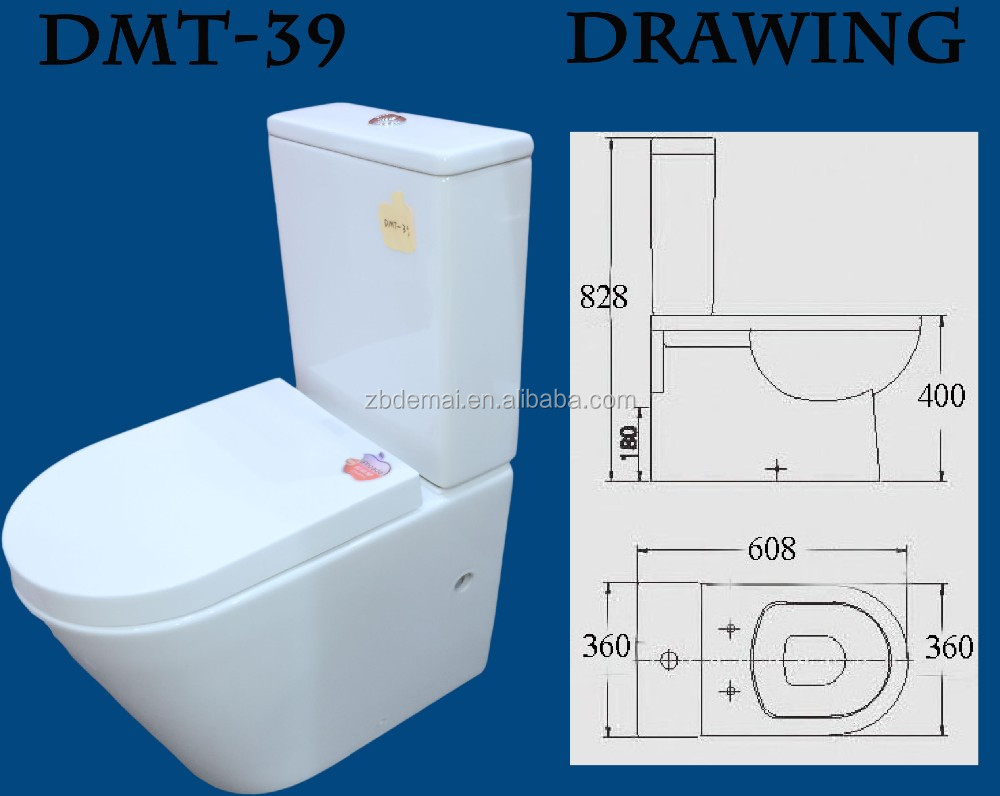 Dmt-39 Ceramic Western Two Piece Toilet Models With Good Price - Buy ...