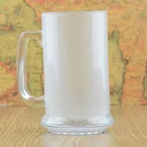 Blank sublimation frosted glass beer mug heat transfer cup