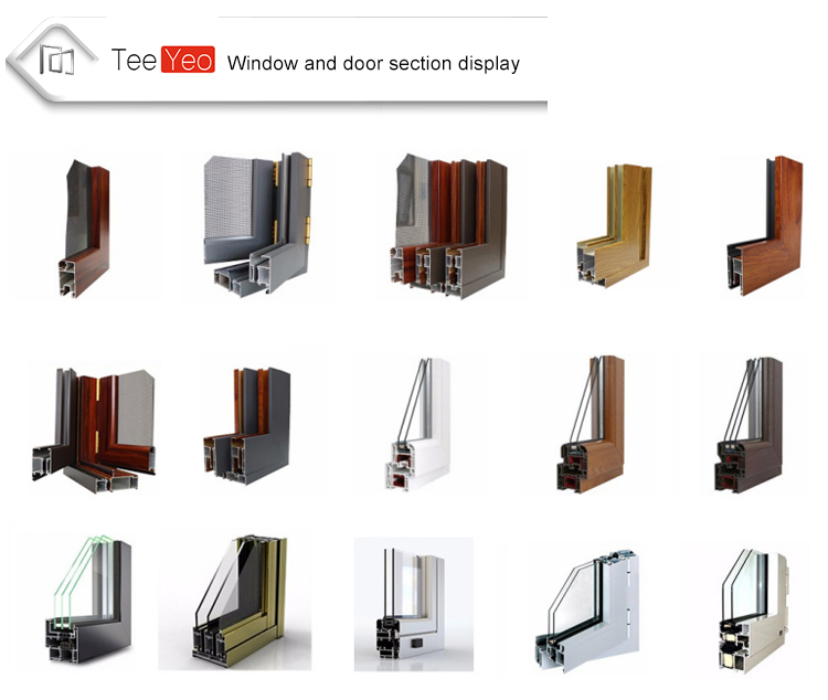 Teeyeo Shopping European Standard Open inside window Glass Veranda Aluminium Casement Window