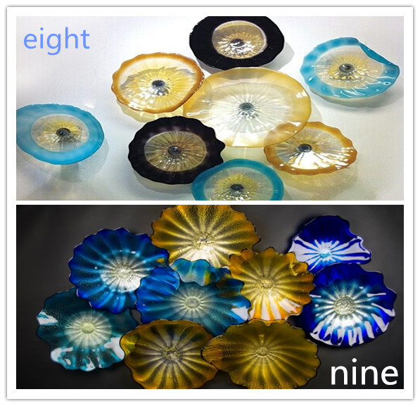 Murano Hand Blown Glass Decorative Plates For Wall Hanging