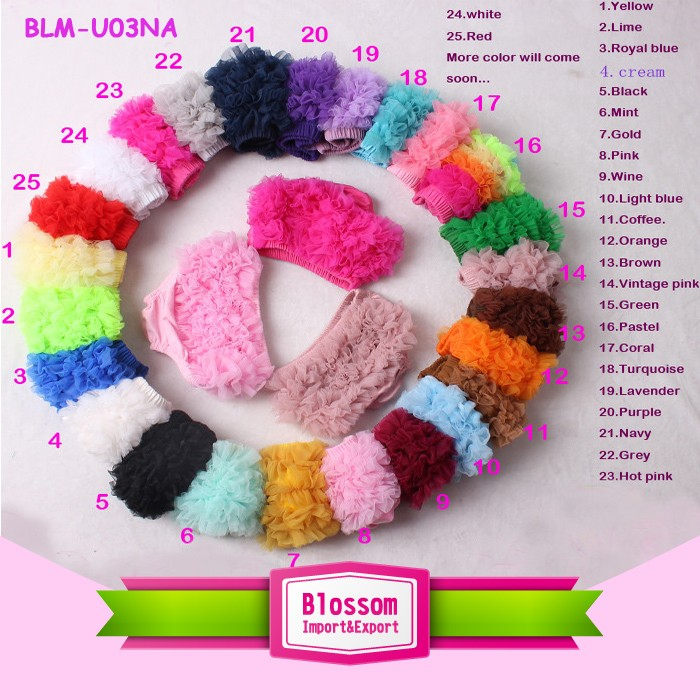 New Design candy color Kids Ruffle Shorties Bloomers Boutique Wholesale Baby Girls Bummies for Summer