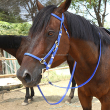 Durable English Horse Racing Bridle in PVC Coated Webing