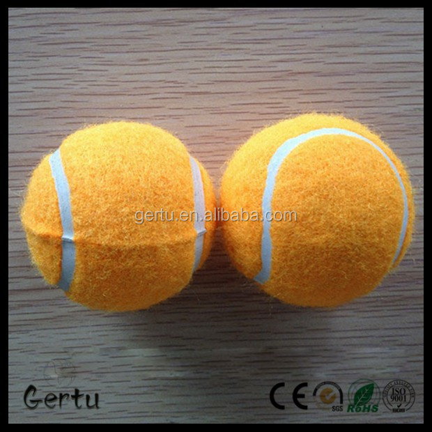 Orange low rebouce dog tennis ball
