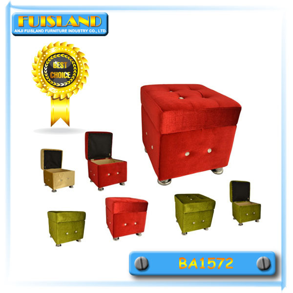 Cube Stool Upholstered Footrest Storage Leather Ottoman