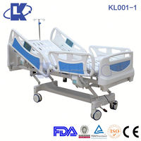 KL001-1 Remote Control Hospital Electric Motor Bed,Five Function Electric Home Care Hospital Bed