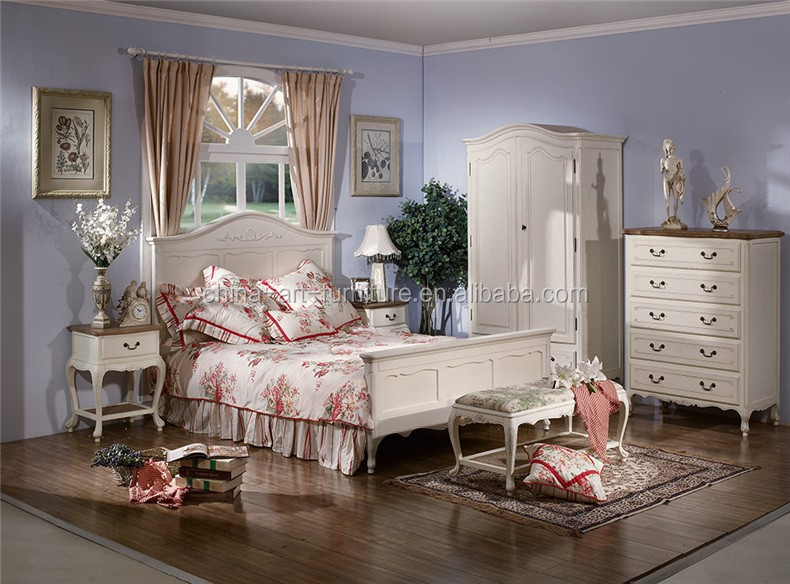 Antique French Country Style Bedroom Sets China Factory Outlet Reproduction Knock Down Furniture