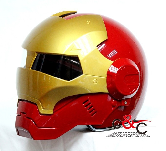 iron man casque masei ironman610 moiti casque moto casque int gral casque rouge dans casques. Black Bedroom Furniture Sets. Home Design Ideas