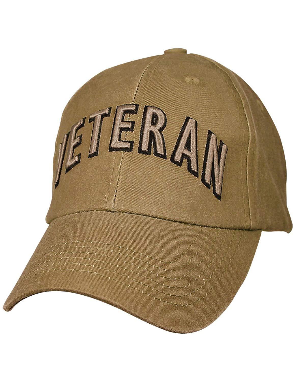 EAGLE CREST INC Coyote Military Baseball Caps 100% Cotton w/Embroidered Emblem Veteran