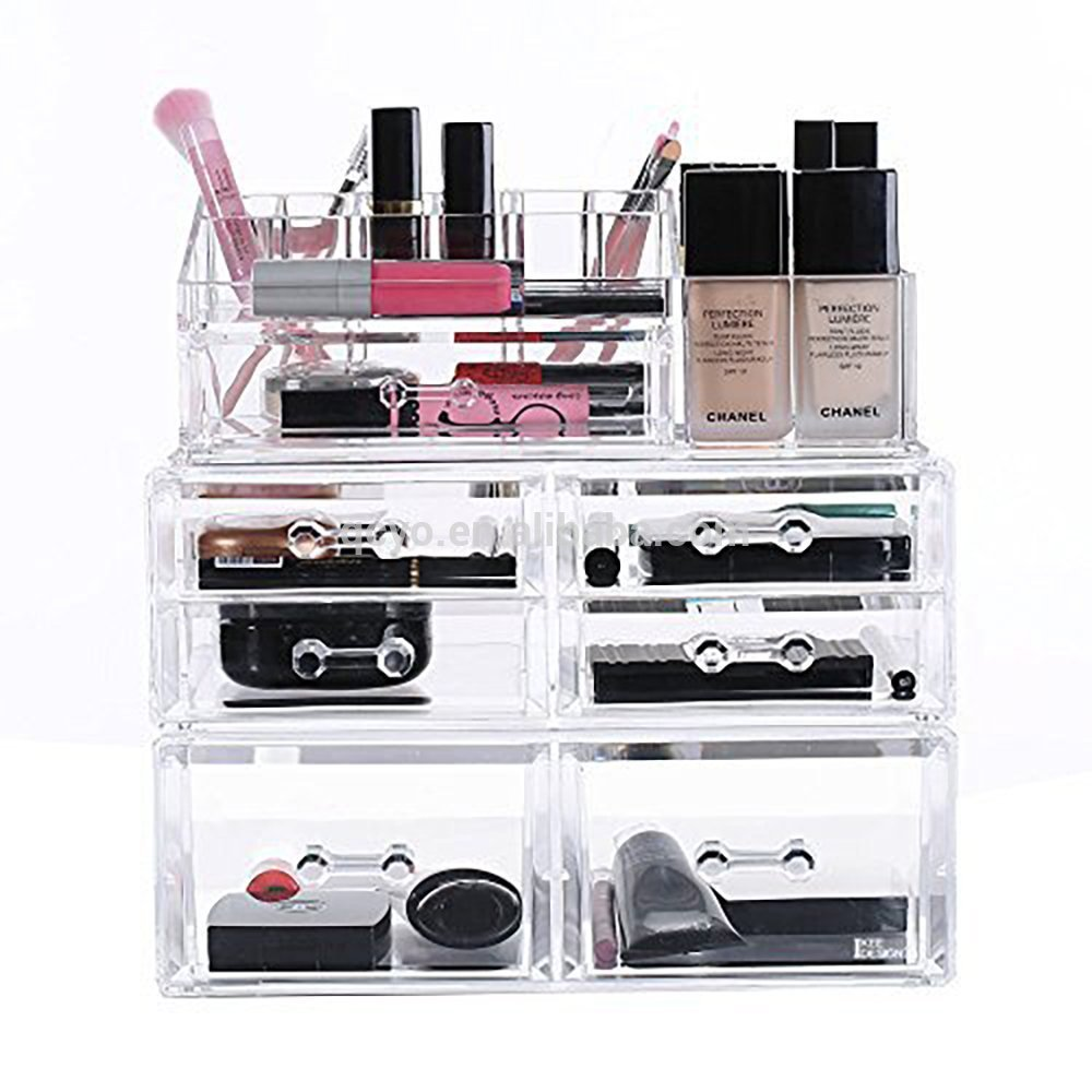 Factory Directly Sale Clear Acrylic Makeup Display Cosmetic Storage Box