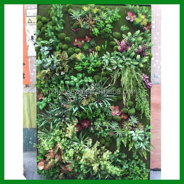 Artificial living wall garden plant
