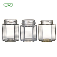 factory wholesale 180ml 280ml octagonal empty glass mason jars